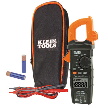 Klein Tools CL600 True RMS Digital AC Auto-Ranging Cordless Clamp Meter Kit