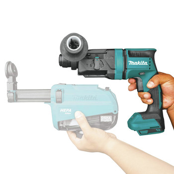 Makita XRH12Z 18V LXT Lithium-Ion Brushless 11/16 in. AVT AWS Capable Rotary Hammer, accepts SDS-PLUS bits (Tool Only) image number 3