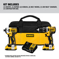 Dewalt DCK283D2 20V MAX XR Compact Brushless Lithium-Ion Cordless Drill/Driver and Impact Driver Combo Kit (2 Ah) image number 9