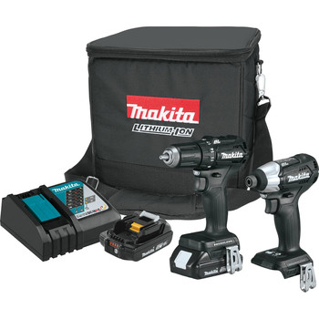 Makita CX200RB 18V LXT Sub-Compact Lithium-Ion 1/2 in. Cordless Drill Driver/ Impact Driver Combo Kit (2 Ah)