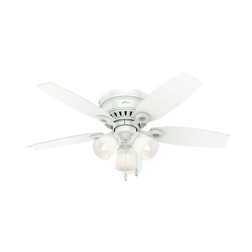 Hunter 52087 46 in. Hatherton Snow White Ceiling Fan with Light