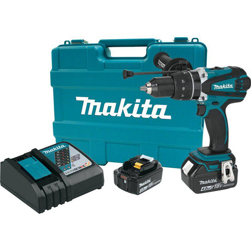 Makita XPH03MB LXT 18V 4.0 Ah Cordless Lithium-Ion 1/2 in. Hammer Driver Drill Kit