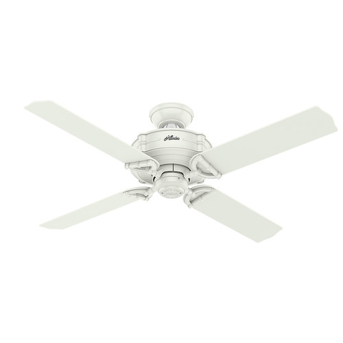 Hunter 54180 52 in. Brunswick Fresh White Ceiling Fan with Handheld Remote