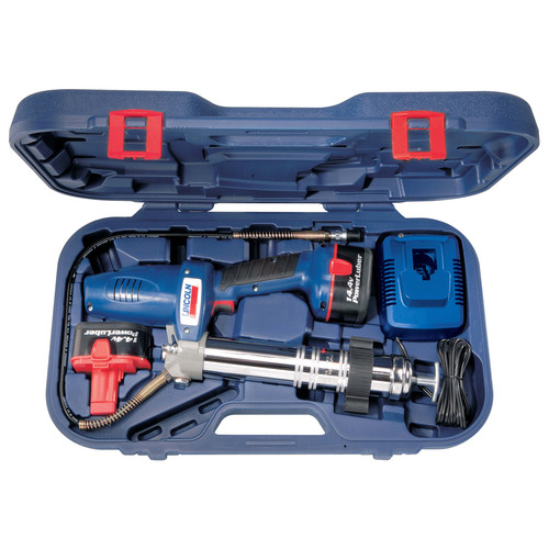 Lincoln Industrial 1444 PowerLuber 14.4V Cordless Two-Speed Grease Gun Kit image number 0