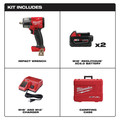 Milwaukee 2962-22 M18 FUEL Lithium-Ion Brushless Mid-Torque 1/2 in. Cordless Impact Wrench Kit with Friction Ring (5 Ah) image number 1