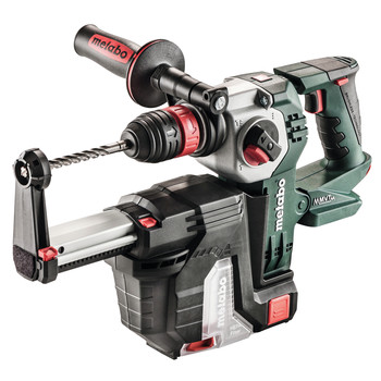 Metabo 600211900 KHA 18 LTX BL 24 Quick 18V Lithium-Ion SDS-Plus Brushless 1 in. Cordless Rotary Hammer with HEPA Dust Extractor (Tool Only)