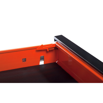 Sunex 8035XTOR 3 Drawer Slide Top Utility Cart with Power Strip (Orange) image number 4