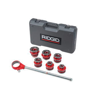 Ridgid 12-R 1/2 in. - 2 in. Capacity NPT Exposed Ratchet Threader Set