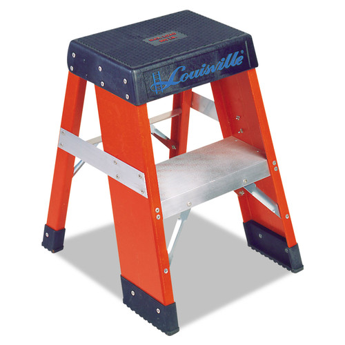 Louisville 443-FY8002 FY8000 Series 2 ft. 2-Step Industrial Fiberglass Step Stand