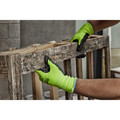 Milwaukee 48-73-8921B 12-Piece Cut Level 2 High Visibility Polyurethane Dipped Gloves - Medium image number 4