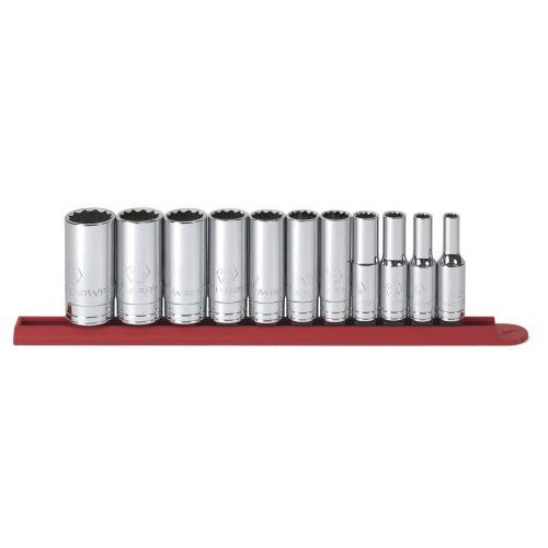 GearWrench 80563 3/8 in. Dr 12Pt Deep SAE Socket Set, 11pc