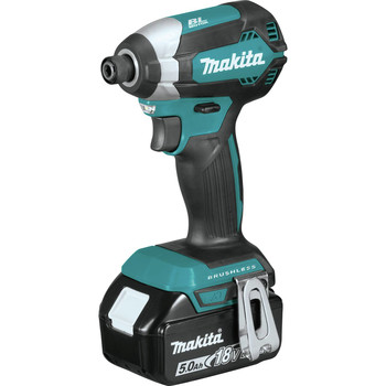 Makita XT337T 18V LXT Lithium-Ion 5.0 Ah Brushless 3-Piece Combo Kit image number 1