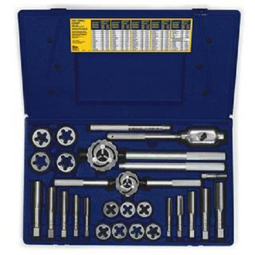 Irwin Hanson 97094ZR 25-Piece Fractional Tap & Hex Die Set image number 0