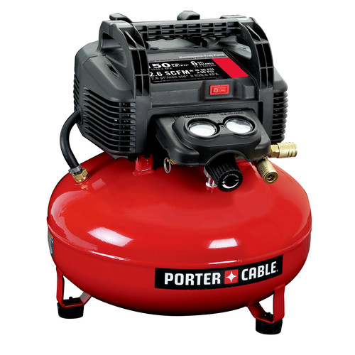 Porter-Cable C2002 0.8 HP 6 Gallon Oil-Free Pancake Air Compressor image number 0