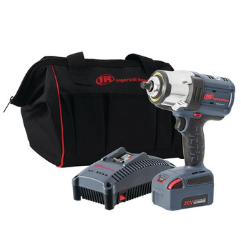 Ingersoll Rand IRTW7152-K12 IQV20 Brushless Lithium-Ion 1/2 in. Cordless High Torque Impact Wrench Kit (5 Ah)