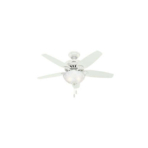 Hunter 52134 44 in. Cedar Park Fresh White Ceiling Fan with Light