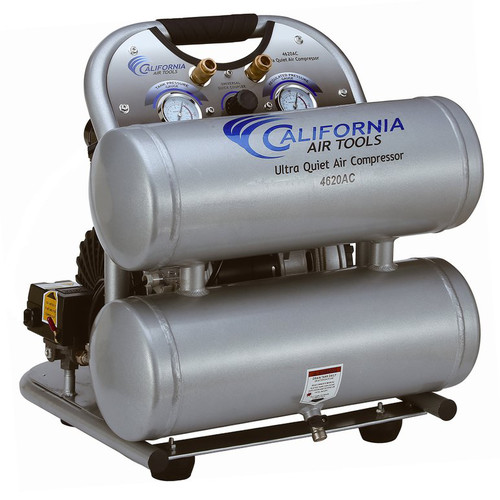 California Air Tools 4620AC 2 HP 4 Gallon Ultra Quiet Aluminum Twin Tank Air Compressor