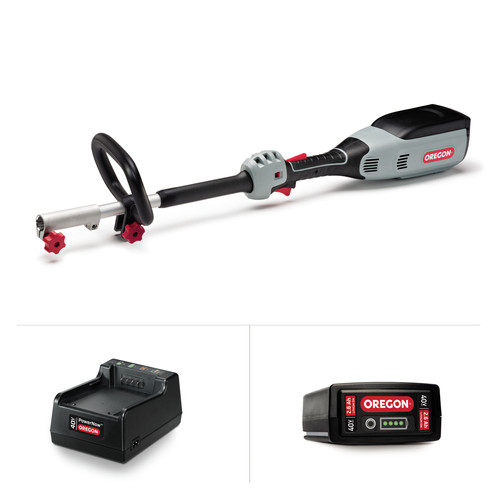 Oregon 594067 40V MAX Multi-Attachment Powerhead E6 kit with 2.6Ah Battery & Standard Charger (no attachments)