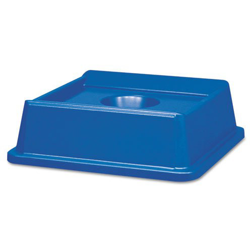 Rubbermaid 2791BLU 20-1/8 in. x 20-1/8 in. Untouchable Bottle & Can Recycling Top (Blue)