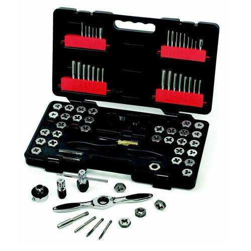 GearWrench 3887 75-Piece SAE/Metric Ratcheting Tap and Die Drive Tool Set