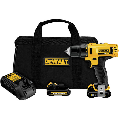 Factory Reconditioned Dewalt DCD710S2R 12V MAX Cordless Lithium-Ion 3/8 in. Keyless Chuck Drill Driver Kit