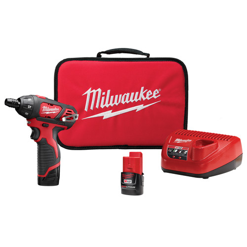 Factory Reconditioned Milwaukee 2401-82 M12 Lithium-Ion Sub-Compact Screwdriver Kit with 2 Batteries