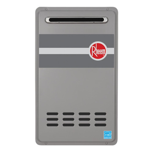 Rheem Rtg 84xln 1 Outdoor Tankless Natural Gas Water Heater For 2 3 Bathroom Homes