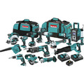 Makita XT1501 18V LXT Lithium-Ion Cordless 15-Pc. Combo Kit (3.0Ah)