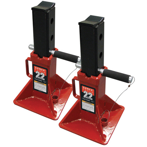 Sunex 1522 22 Ton Pin Type Jack Stands (Pair) image number 0