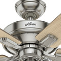 Hunter 54206 52 in. Crestfield Brushed Nickel Ceiling Fan with Light image number 8