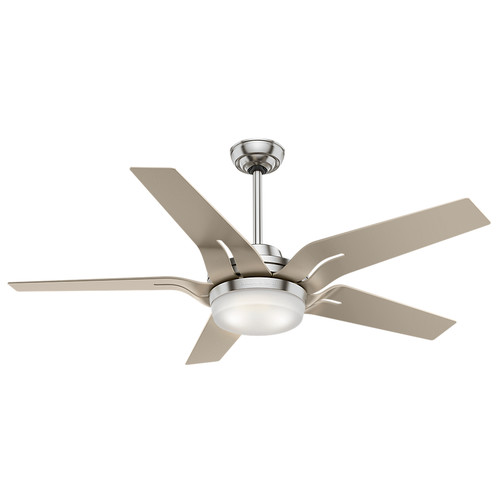 Casablanca 59197 Correne 56 in. Brushed Nickel Champagne Plastic Indoor Ceiling Fan with Light and Remote