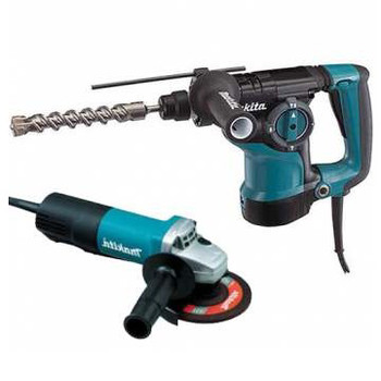 Makita HR2811FX 1-1/8 in. 3-Mode SDS-PLUS Rotary Hammer with FREE 4-1/2 in. Angle Grinder image number 0