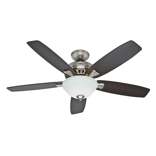 Hunter 53175 52 in. Banyan Brushed Nickel Ceiling Fan with Light