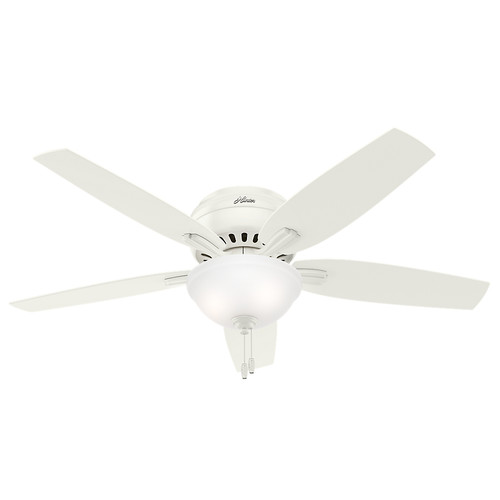 Hunter 53313 52 in. Newsome White Ceiling Fan with Light