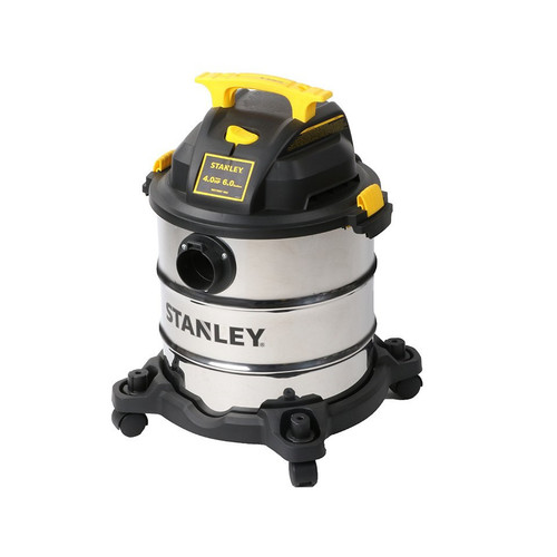 Stanley SL18116 4.0 Peak HP 6 Gallon Portable S.S. Wet Dry Vac with Casters