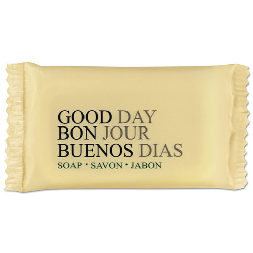 Good Day TP390050 Amenity Bar Soap, Pleasant Scent, 1/2 Oz, 1000/carton image number 0