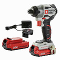Porter-Cable PCCK647LB 20V MAX 1.5 Ah Cordless Lithium-Ion Brushless 1/4 in. Impact Driver Kit