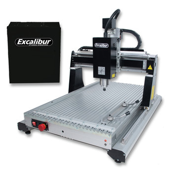 Excalibur EC-617 M1 3 Axis 16 in. x 24 in. CNC Wood Carving System with Variable Speed Plug and Play MASSO Controller