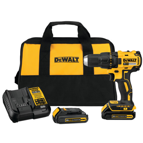 Dewalt DCD777C2 20V MAX Lithium-Ion Brushless Compact 1/2 in. Cordless Drill Driver Kit (1.5 Ah)