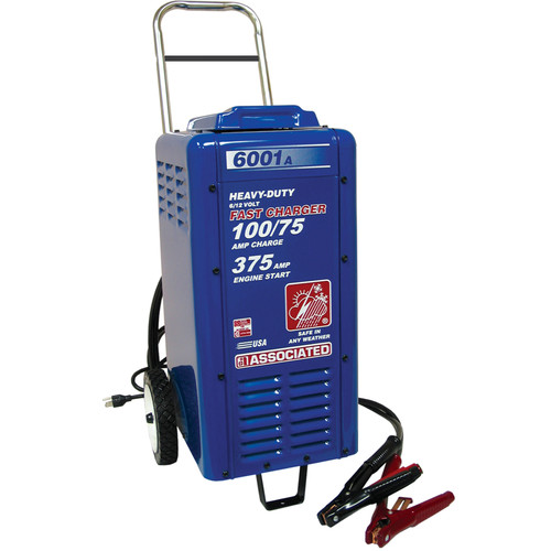 Associated Equipment 6001A 6V/12V Heavy Duty Wheeled Commercial Battery Charger