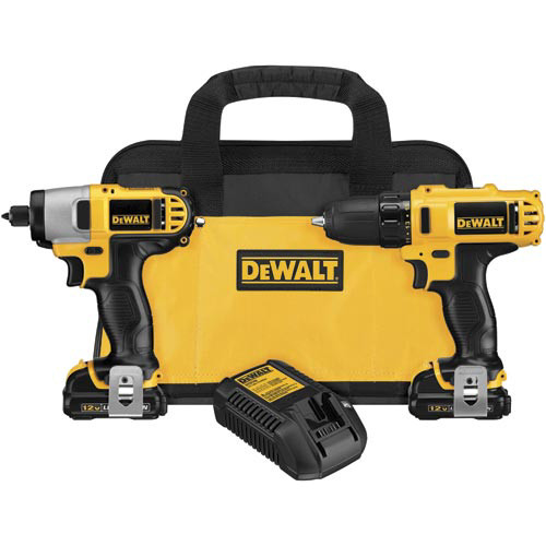 Factory Reconditioned Dewalt DCK211S2R 12V MAX 1.5 Ah Cordless Lithium-Ion 3/8 in. Drill Driver and Impact Driver Combo Kit