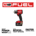 Milwaukee 2960-22 M18 FUEL Lithium-Ion Brushless Mid-Torque 3/8 in. Cordless Impact Wrench Kit with Friction Ring (5 Ah) image number 2