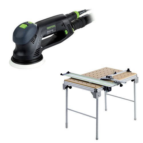 Festool RO 125 FEQ Rotex 5 in. Multi-Mode Sander plus Multi-Function Work Table