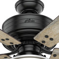 Hunter 54149 44 in. Cedar Key Matte Black Outdoor Ceiling Fan with Light and Integrated Control System-Handheld image number 8