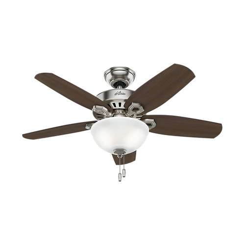 Hunter 52219 42 in. Builder Small Room Brushed Nickel Ceiling Fan with Light