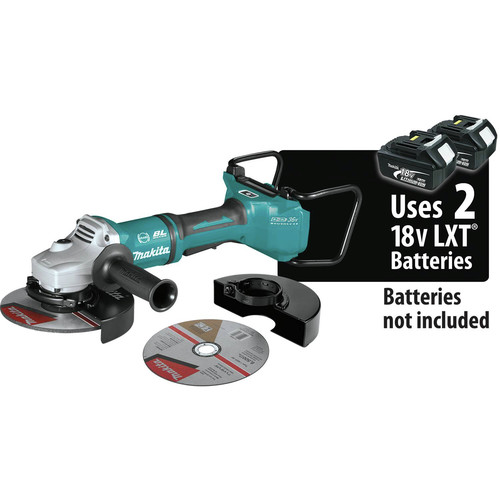 Makita XAG22ZU1 18V X2 LXT Lithium-Ion Brushless Cordless 7 in. Paddle Switch Cut-Off/Angle Grinder with Electric Brake and AWS  (Tool Only) image number 0