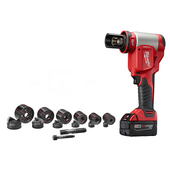 Factory Reconditioned Milwaukee 2676-82 M18 FORCE LOGIC 18V Cordless Lithium-Ion High Capacity Knockout Kit with EXACT 1/2 - 2 in. Knockout Set