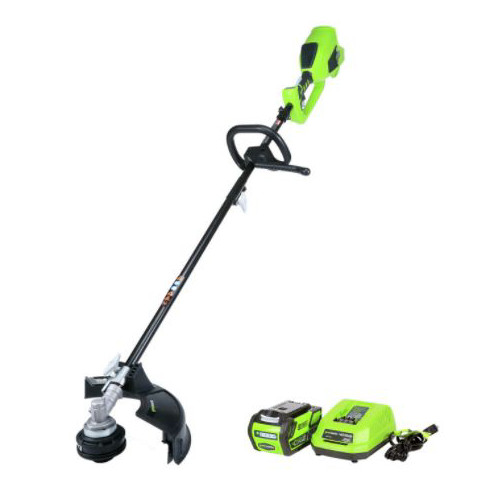 Greenworks 2100402 ST40L210 G-MAX 40V/14 in. Brushless String Trimmer with 2.0 Ah Battery and Charger