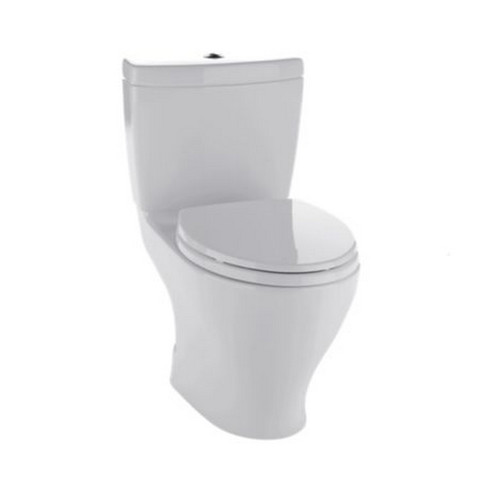 TOTO CST416M#11 Aquia II Elongated 2-Piece Floor Mount Toilet (Colonial White)