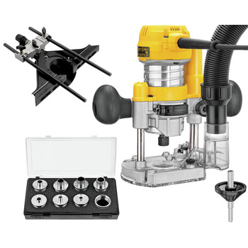 Dewalt DWP611PK Premium Compact Router Fixed/Plunge Combo Kit image number 1
